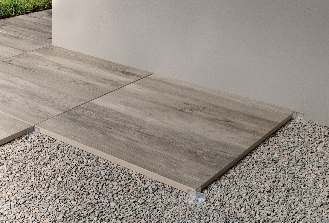 Terrassen  und Gartenplatten Holz grau 200X200x20 SMALL&LARGE ...